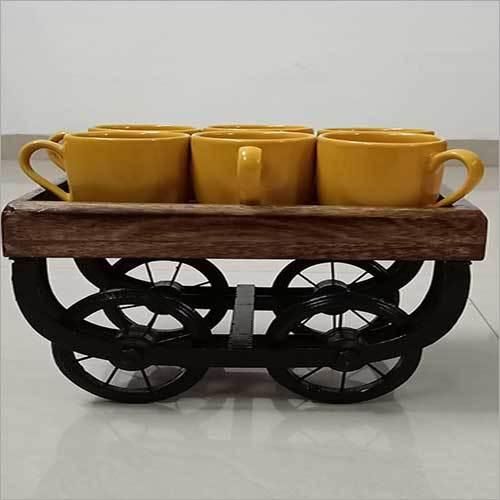 Wooden Food Trolley Platter