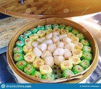 Dim Sum Basket Bamboo Steamer Round 21