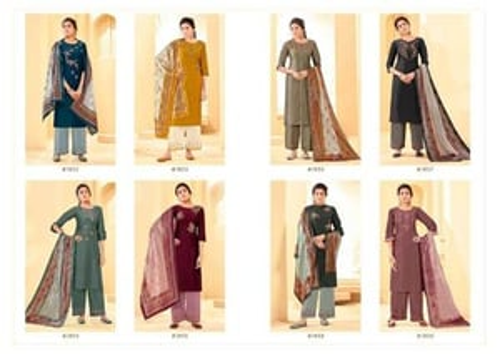 Mannat Premium By Anju Fabrics Bamber Silk Kurti With Pant And Dupatta