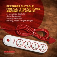 Red Wire and Length 4M AMAZE Power Strips