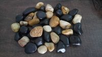 Natural mix color polished and high glossy polished pebbles stone