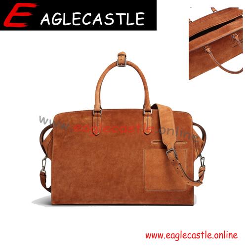 Genuine Leather Duffle Bag Men Shoulder Travel Weekender Gym Sports Carry On Hand