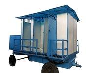 FRP 6 Seater Mobile Toilet Van