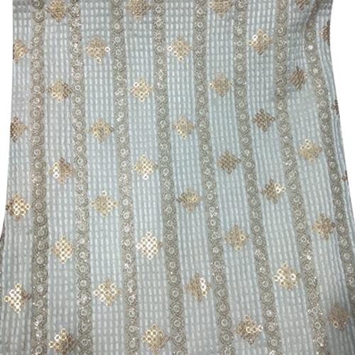 Designer Georgette Sequin Fabric