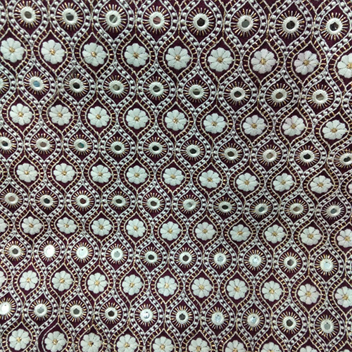 Silk Embroidered Fabric