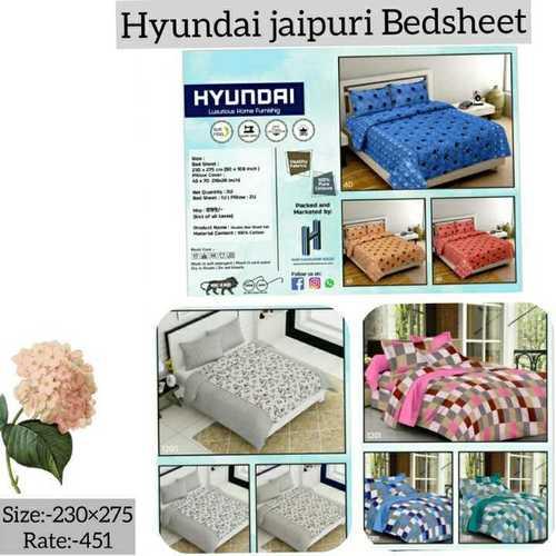 Hyundai jaipuri Bedsheets
