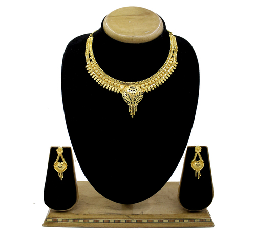 Gold Plated Forming Golden Choker Necklace Set