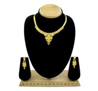 One Gram Gold Plated Forming Golden Choker Necklace/Jewelry Set