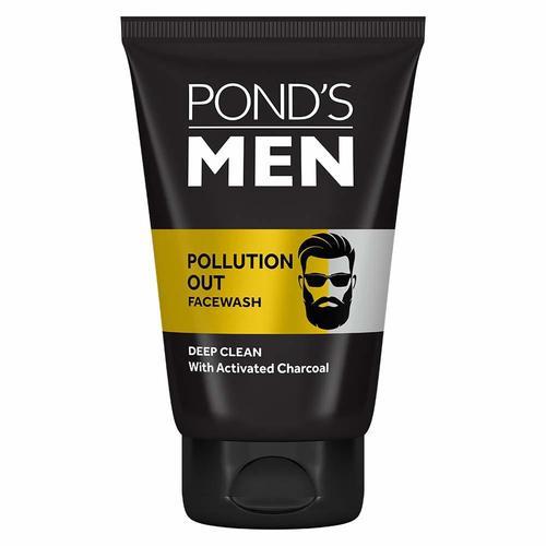 Ponds Men Pollution Out Activated Charcoal Deep Clean Facewash - 100g