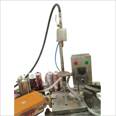 AEROSOL CAN GAS FILLING MACHINE