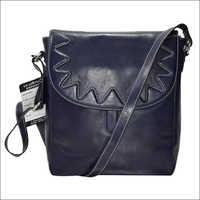 Handmade Napa Leather Dark Blue Handbag