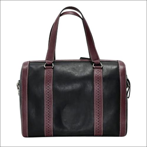 Handmade Napa Leather Designed Black Handbag