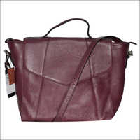 Handmade Natural Dry Milled Leather Maroon Handbag