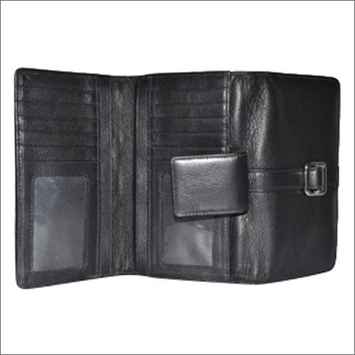 Handmade NDM Leather Black Ladies Wallet