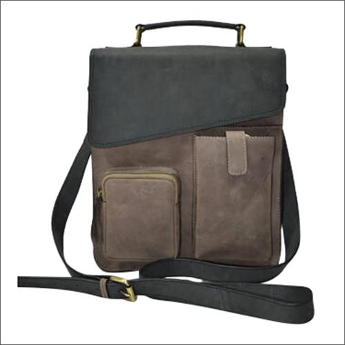 Hunter Leather Double Pocket Handbag