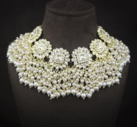 Traditional Kundan White Color Choker Necklace And Earring Set