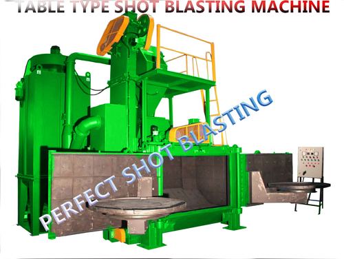 Double Door Swing Table Type Shot Blasting Machine