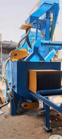 Roller Conveyor 4 Wheel Shot Blasting Machine