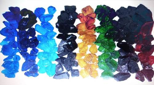 Recycle high glossy polished natural color glass chips
