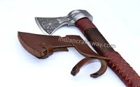 Viking axe with leather cover