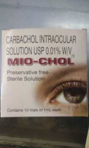 Carbachol Intraocular Solution Usp 0.01% W/v