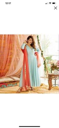 Heavy Chinon Silk Gown
