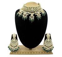 Peacock Design Meenakri Work Kundan Gold plated Wedding Jewellery choker necklace and Earring set