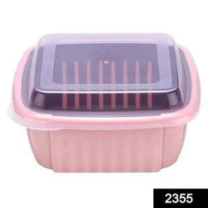 2355 Double Layer Food Drainer Washing Basket With Collapsible Strainers Colander