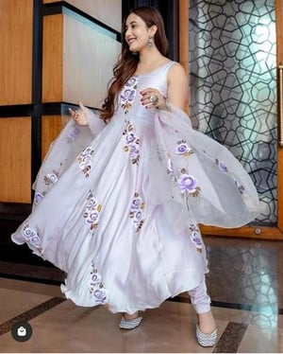Georgette Salwar Suit With Digital Print Gown