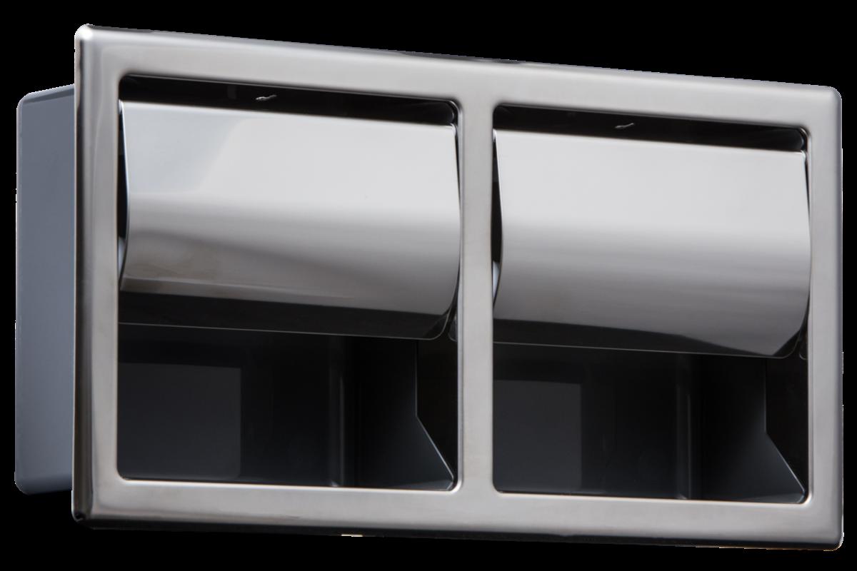 Kuriki Double Recessed Paper Holder (Horizontal)