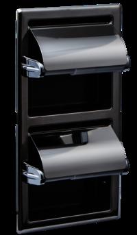 Kuriki Double Recessed Paper Holder (Vertical)