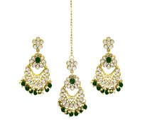 Indian Traditional Design Party Wear Gold Plated Choker Necklace Set