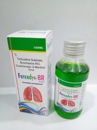 Terbutaline Sulphate + Bromhexince Hcl + Guaiphenesine + Menthol Syrup