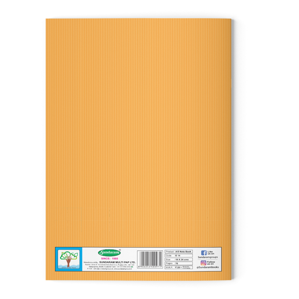 Sundaram Winner King Note Book (Big Square) - 172 Pages (E-15J)
