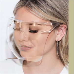 Cover Model Clear Face Shield Glass