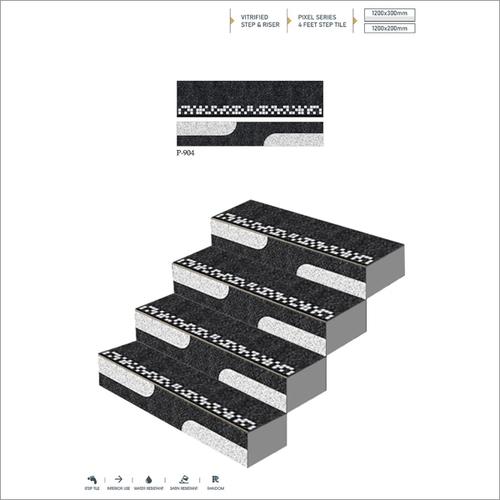Pixel Vitrified Body Step Riser Tile