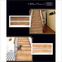 Wooden Vitrified Body Step Riser Tile