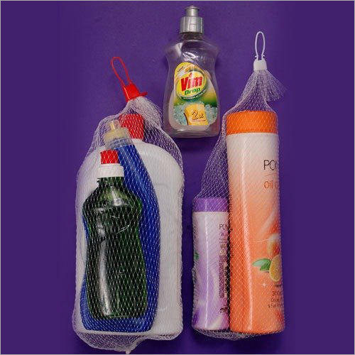 White Plastic Daily Essential Products Combo Packing Net