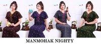Manmohak By Vassu Cotton Designer Nighty Set