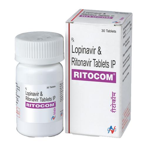 Ritocom 50 mg/200 mg Tablet(Ritonavir (50mg) + Lopinavir (200mg)