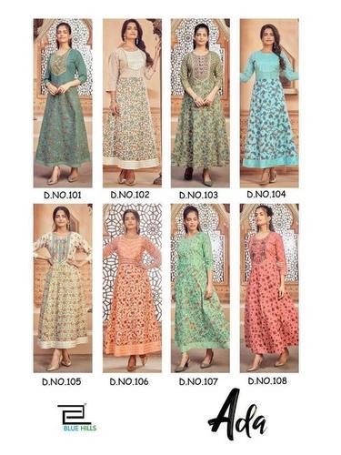 Blue Hills Ada 1 Designer Anarkali Cotton Kurti