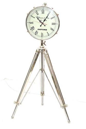 Brass Floor Clock With Tripod
