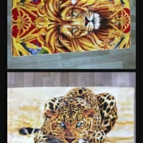 Tiger print towel