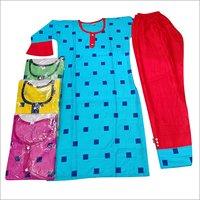 Ladies Multicolor Kurti With Salwar Set