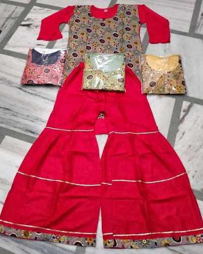 Ladies Printed Sharara Suit