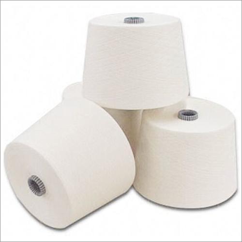Spun Polyester White Yarn