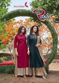 Rahi Vol-1 By Koodee Pure Nylon Viscose Kurti Sharara Wholesale Set