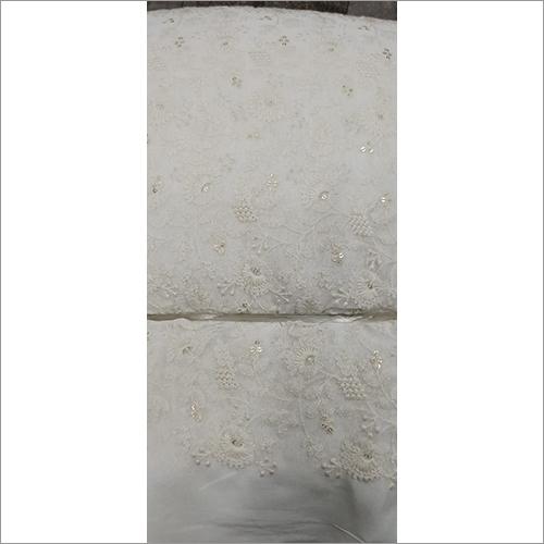 White Sherwani Fabric