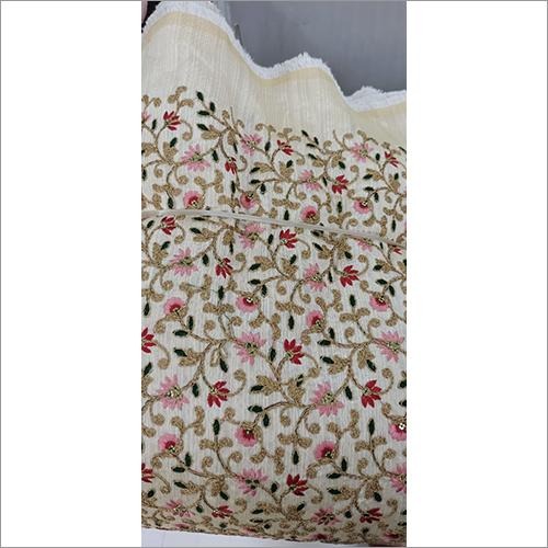 Flower Embroidery Work Sherwani Fabric