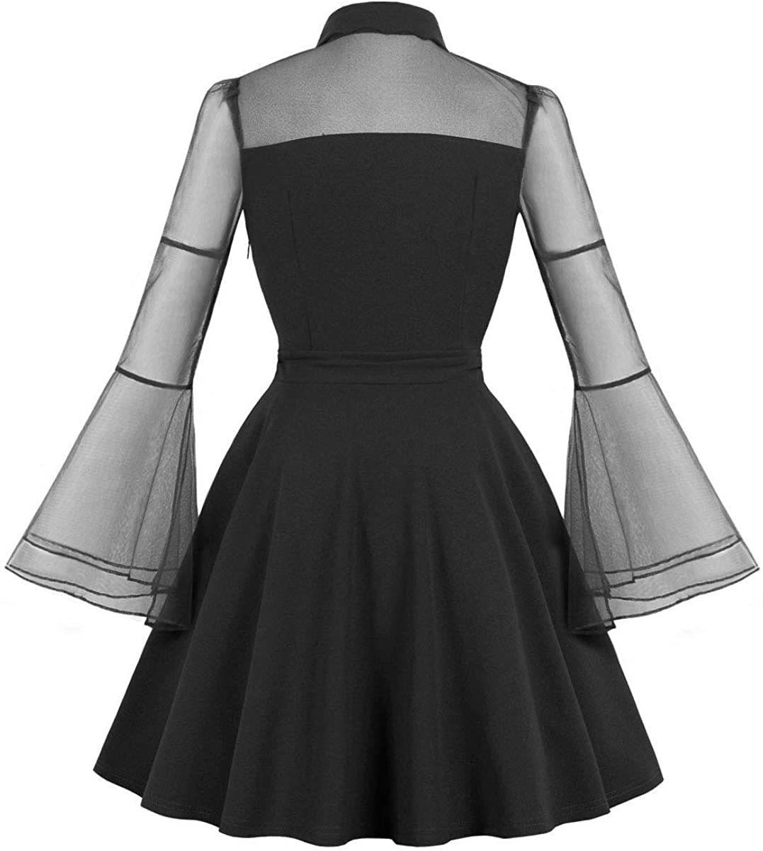 Gothic Punk Black Dress